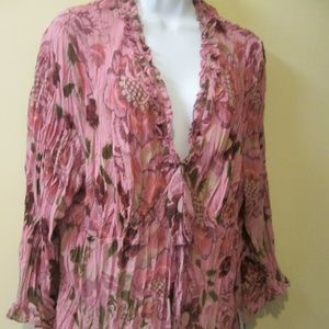 3X VIOLET & CLAIRE OF NEW YORK, PINK FLOUNCY TOP